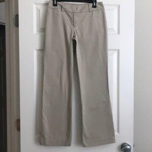 Loft super soft khaki color slacks (item 012)